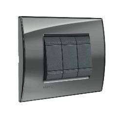 placchetta per interruttori : bticino quadra fumo di londra