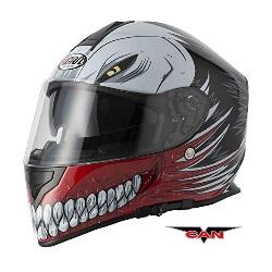 caschi-integrale-nuovo-stile-caschi-faccia-vcan-v127-cava-grafico-acu-completa-moto-sportiva-casco-rosso-0 - VC - AN V127 CAVA GRAFICO ACU