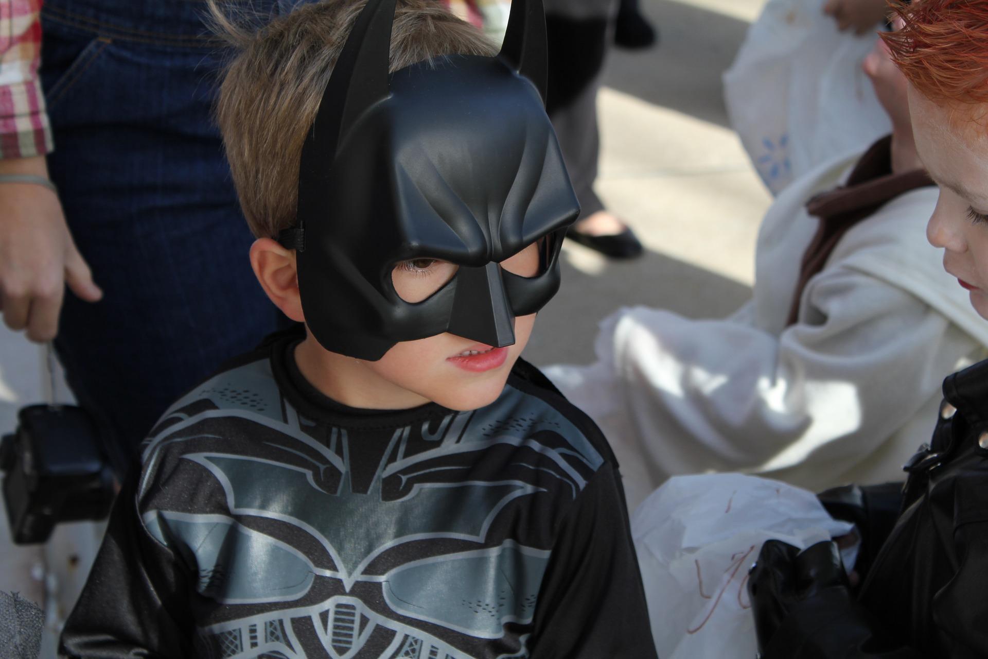 Adulto Deluxe Super Eroe Batman Guanti Guanti Costume Accessorio