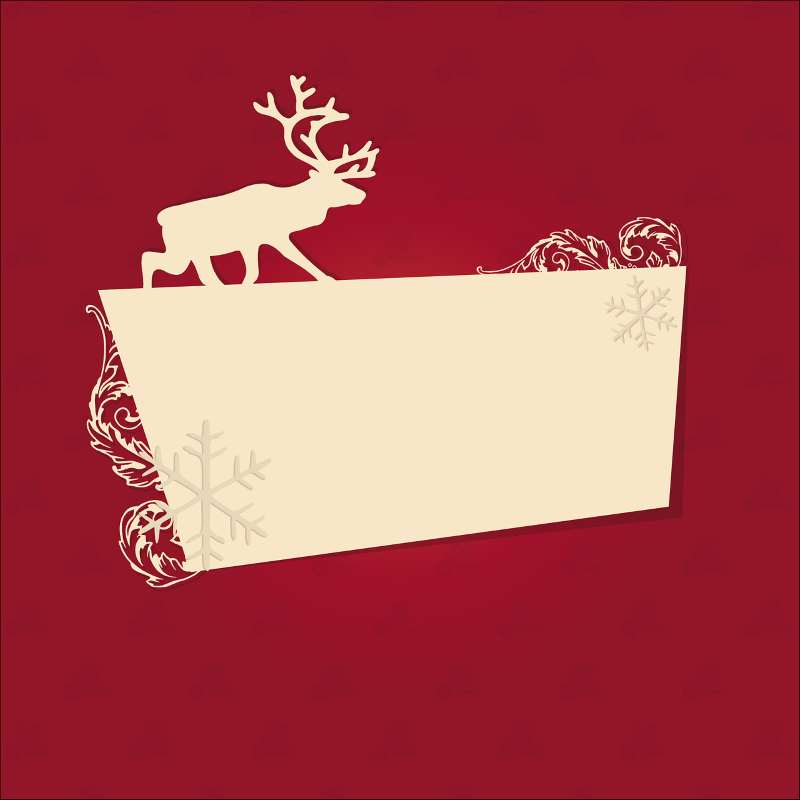 Biglietto di Natale con Renne