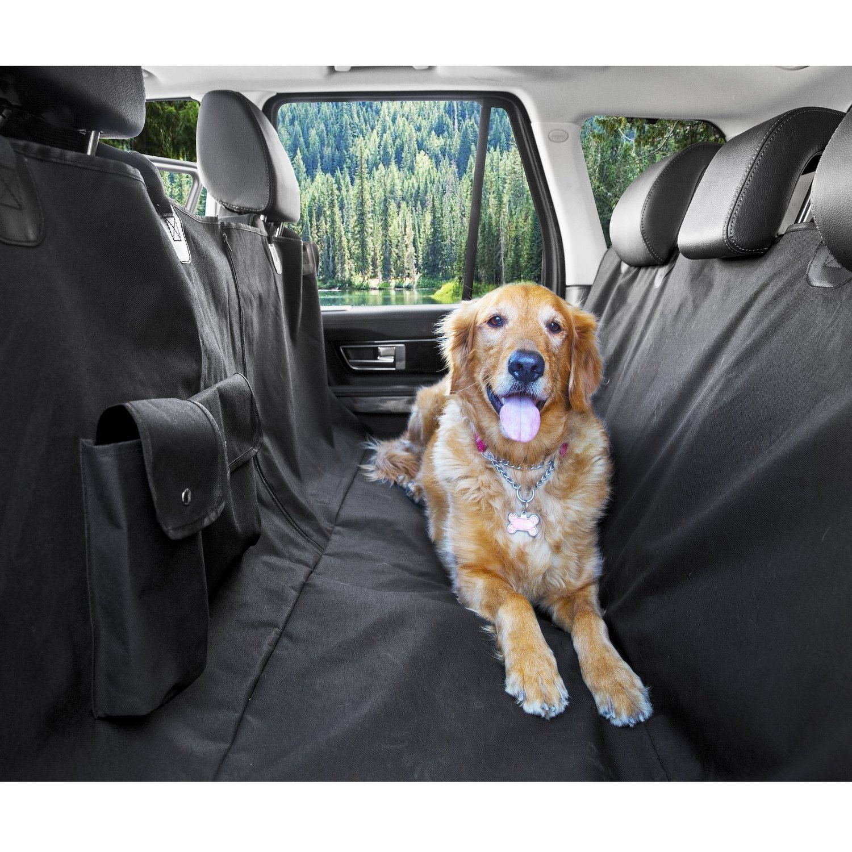 MATCC Telo Auto per Cani Protezione Bagagliaio Auto Copertura Universale per Bagagliaio Impermeabile Antiscivolo Coprisedile Posteriore 2 Borse di Stoccaggio di Grandi Dimensioni