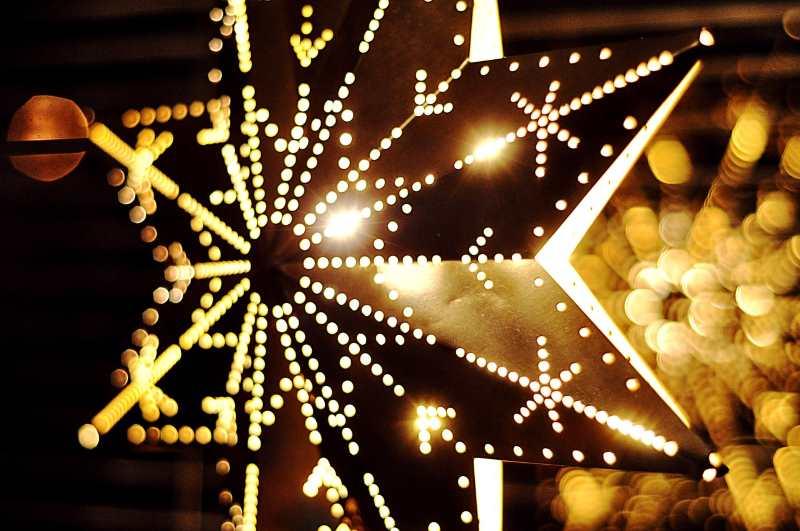 Luci natalizie da esterno a batteria