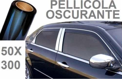 PELLICOLA OSCURANTE VETRI AUTO NERO SCURO 15/% ADESIVO 6 metri x 50cm