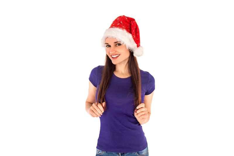 Ragazza con Cappello da Babbo Natale
