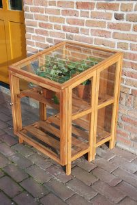 serre piccole in legno e vetro